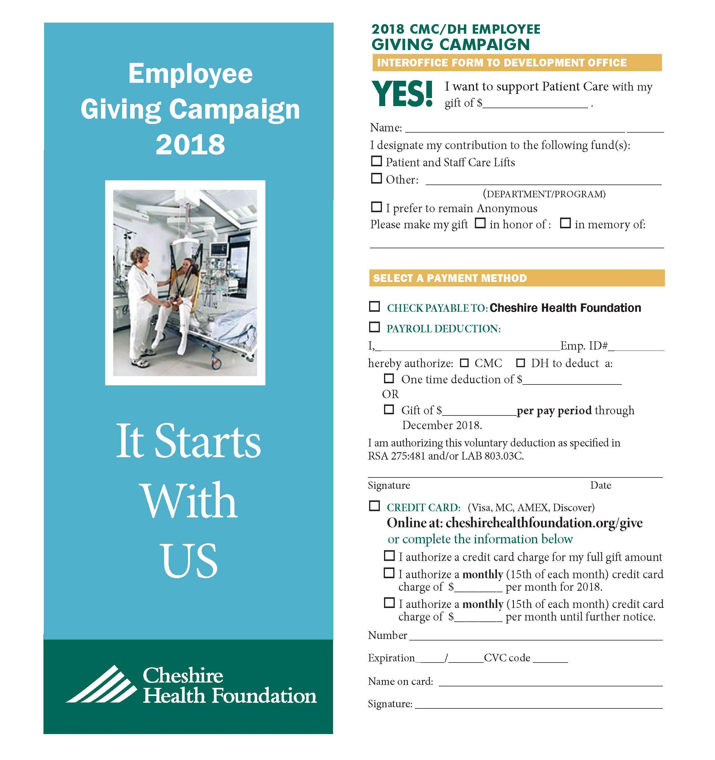 For Employees | Cheshire Health Foundation